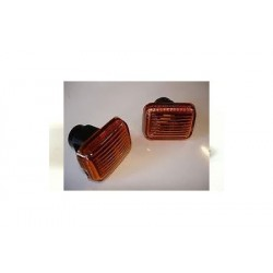 Range Rover P38 Amber Side Wing Repeater Indicator Lamp Lens (PAIR)