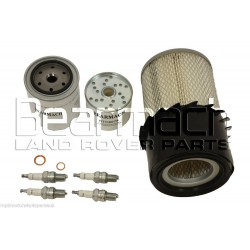 Land Rover 2.25 Petrol Service Kit - Oil/Air/Fuel/Filter/Plugs/Washer