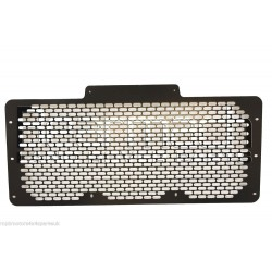 Defender 90/110 Flat Stainless Steel Honeycomb Grille Black BA3906