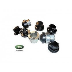 Defender 90/110 Steel Wheel Lock Nut Set Including Caps RTC9535