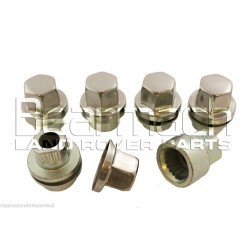 Defender Alloy Wheel Lock Nut Set of 5 with Caps STC8843