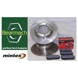 Range Rover P38 Rear Solid Brake Discs & Mintex Rear Brake Pads Set